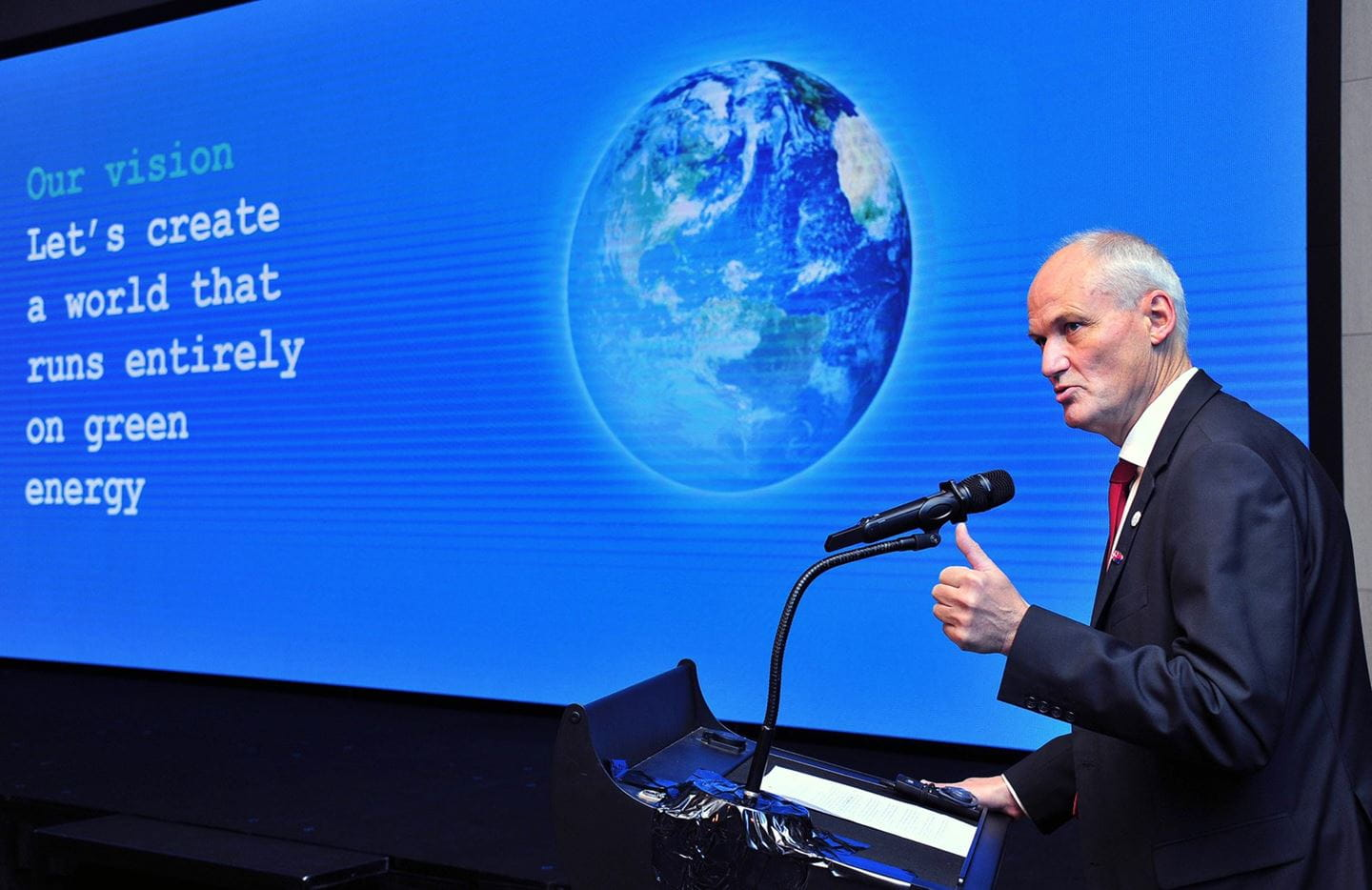 Einar Jensen, Danish Ambassador to S. Korea, making remarks about bilateral cooperation between Korea and Denmark