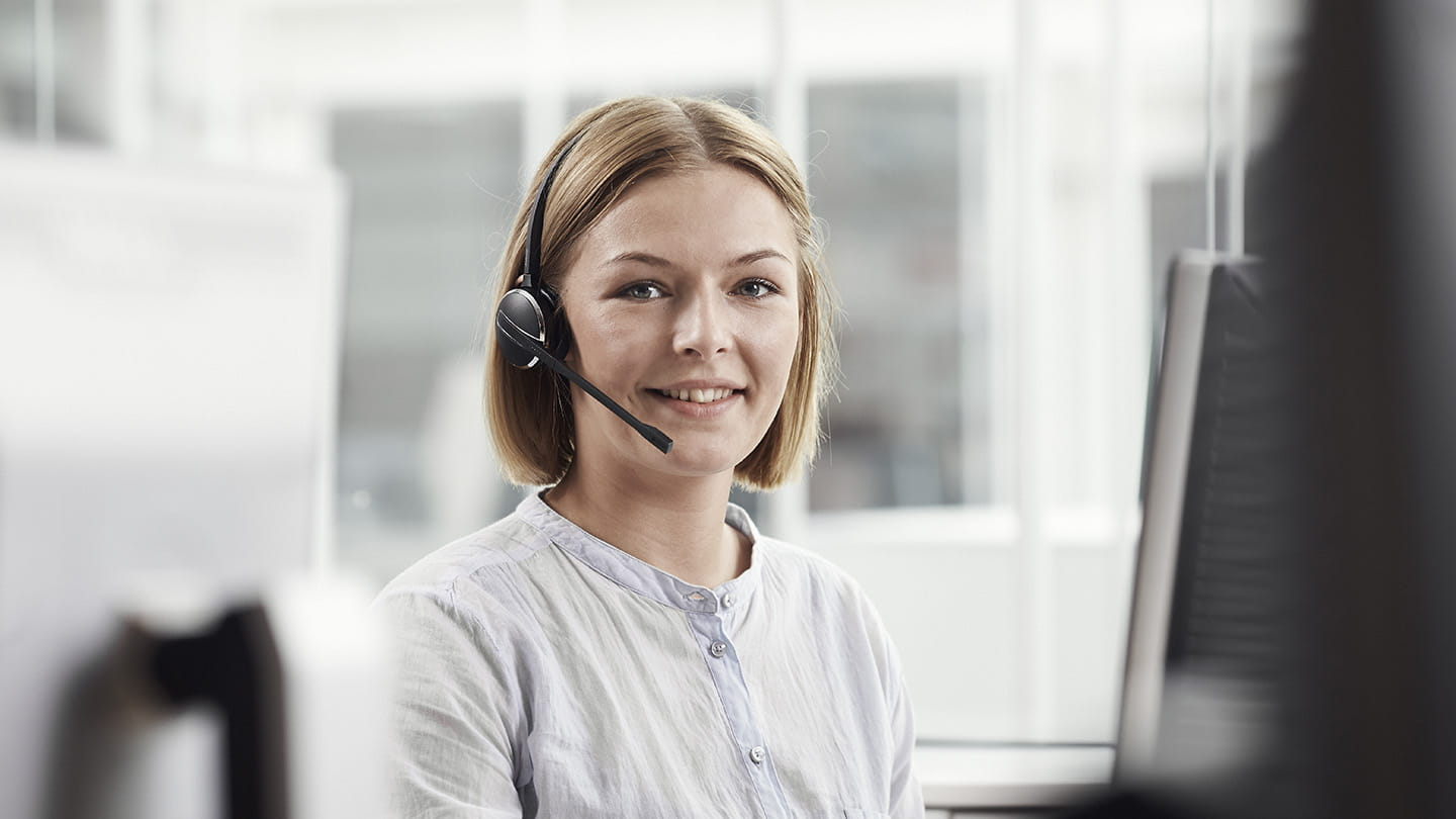 Kundservice person med headset
