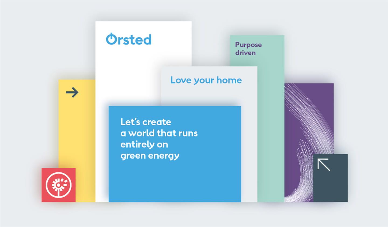 Showing Ørsted brand colours
