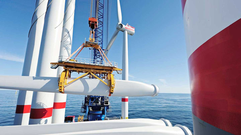 Building wind farm