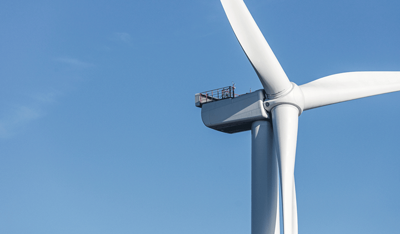 Top of a wind turbine
