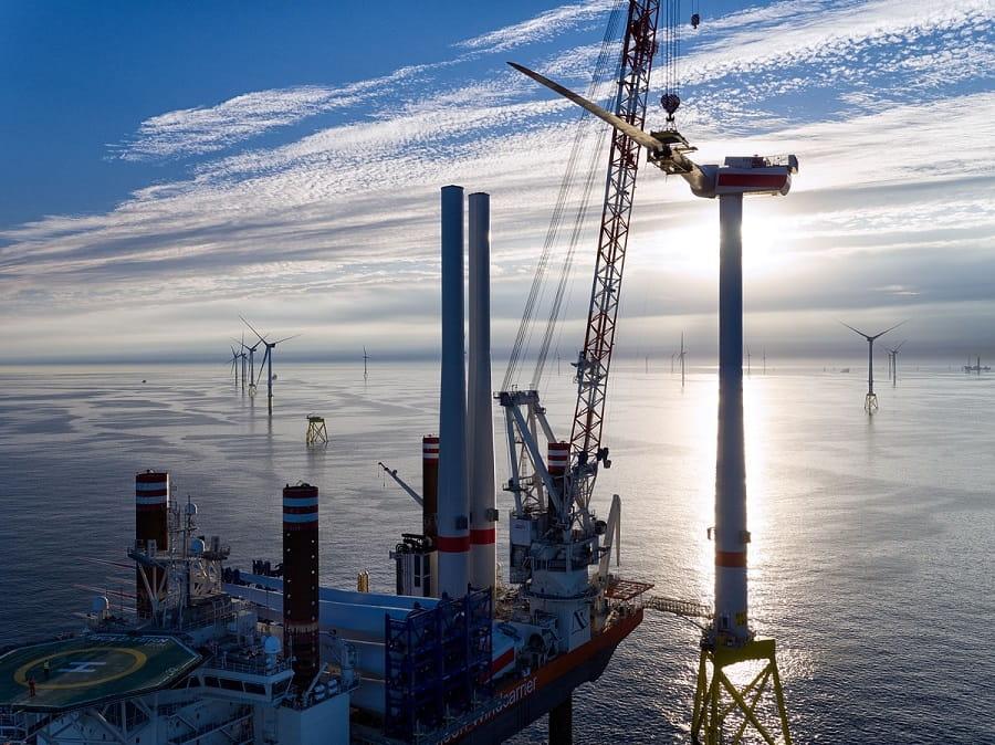 Installation einer 8MW-Windkraftanlage im Windpark Borkum Riffgrund 2