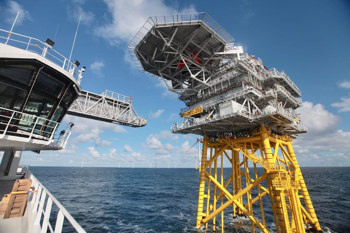 Die Wind of Change, unser Service Operation Vessel, im Einsatz.