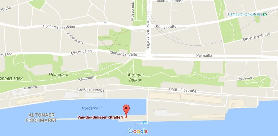 Standort von Orsted Deutschland