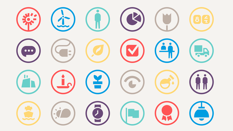 Samling af Ørsted ikoner