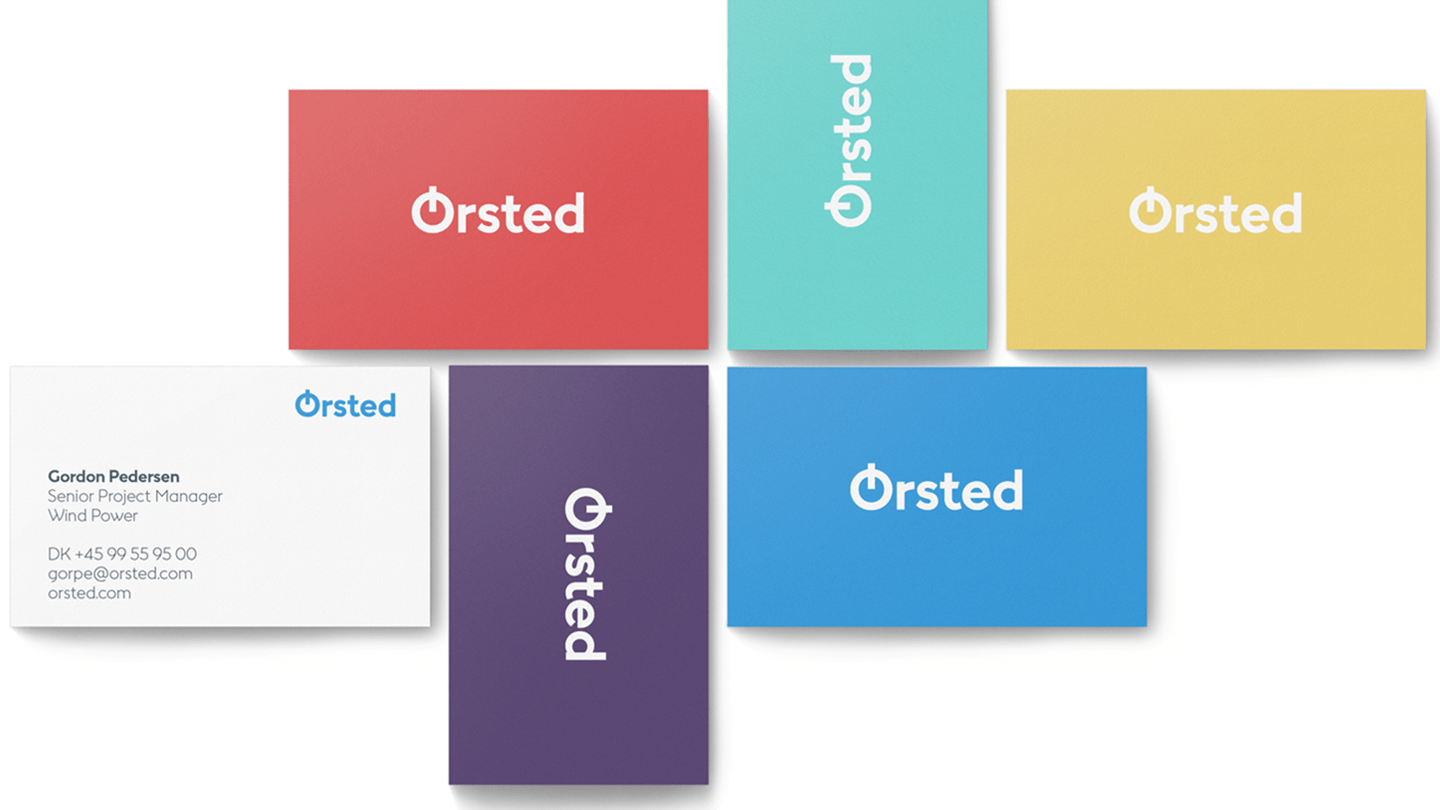 Ørsted business cards and design colors