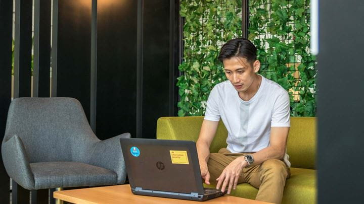 Orsted Malaysia coworker working remotely