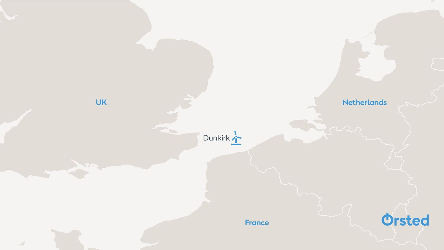Map Of France Dunkirk.Oersted Total And Elicio Join Forces To Bid For Offshore Wind Farm