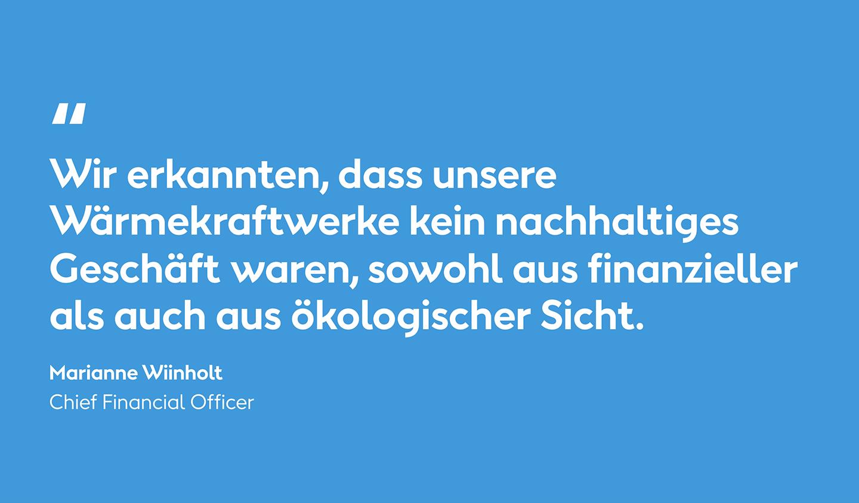 Marianne Wiinholt Zitat: Die Chronik unserer grünen Transformation bei Ørsted