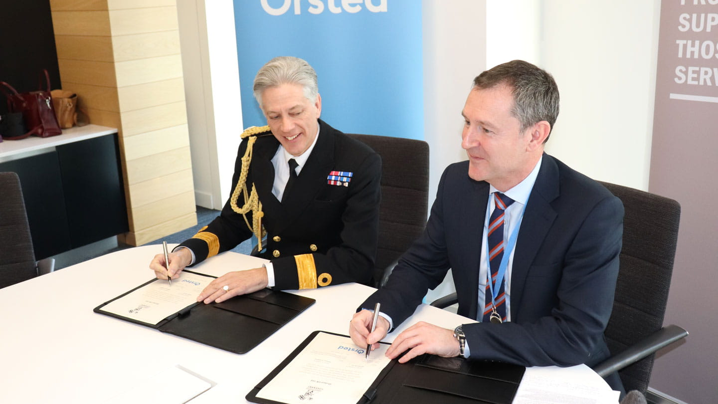 Orsted signing of Armed Forces Covenant