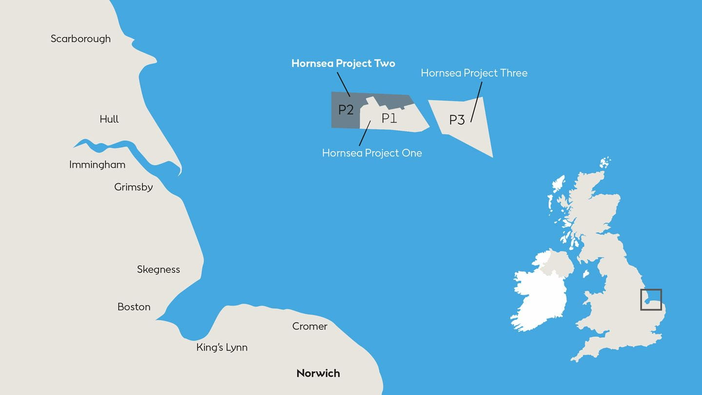 Project map for Hornsea 2