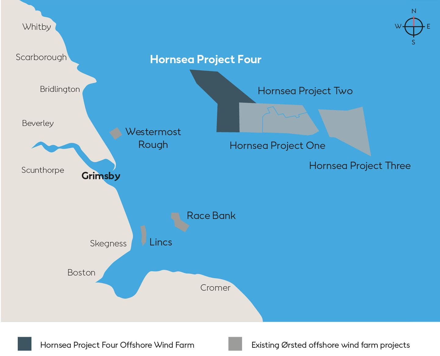 Hornsea Project Four map
