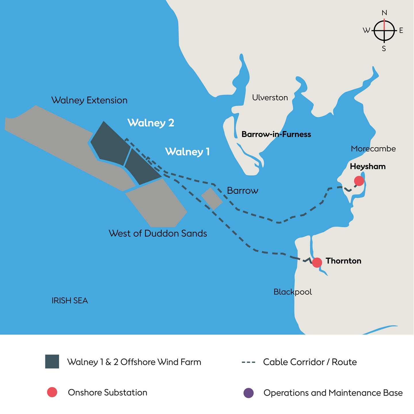 Walney Extension location map