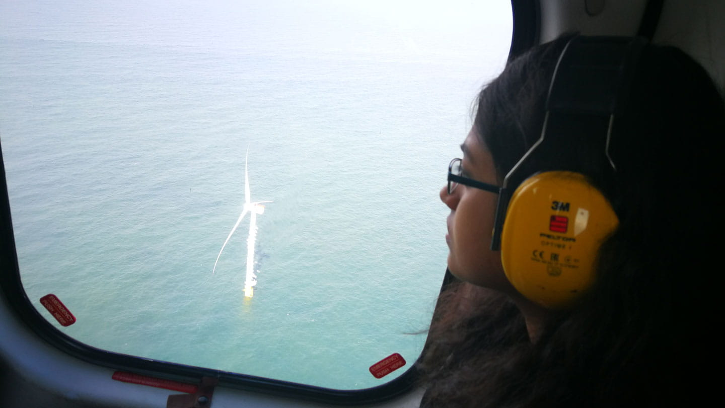 Cynthuja Ramanan wins trip to Race Bank offshore wind farm