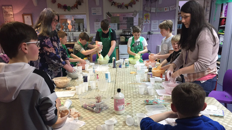 WEB Merseyside Boys Group slime making session