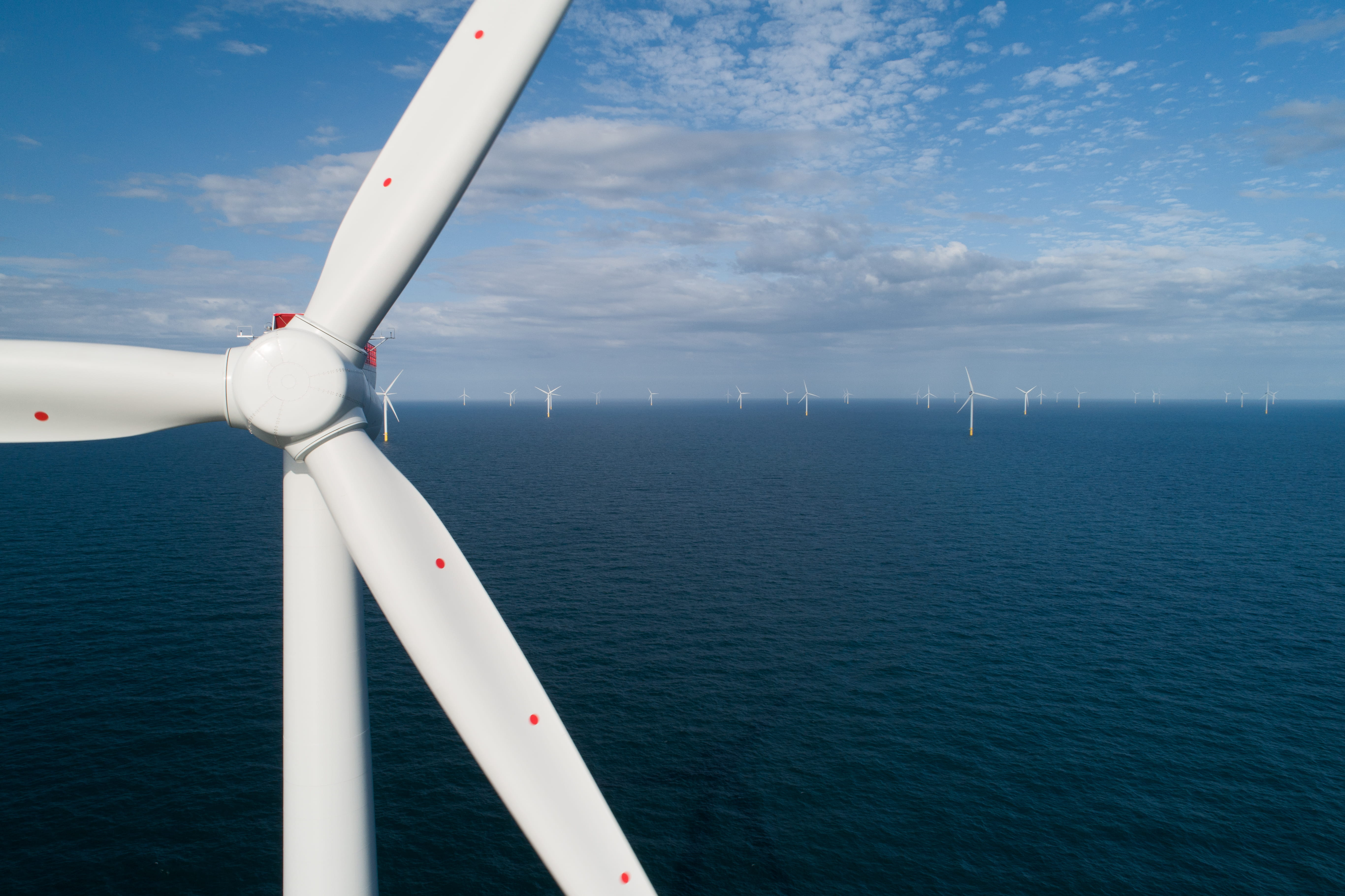 inal turbine installed as world's largest offshore wind farm nears completion