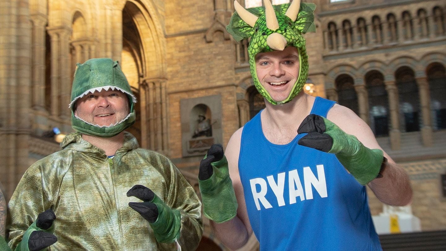 Orsted London Marathon runners for the NHM