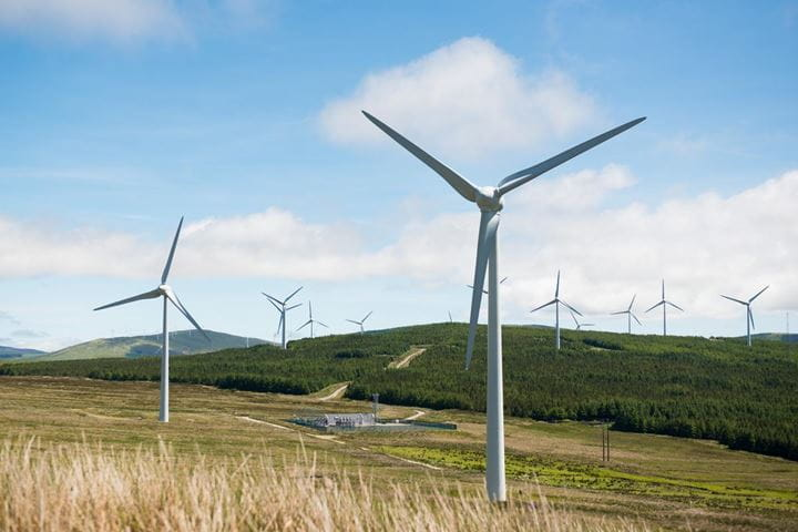 Orsted onshore wind farm green energy solution