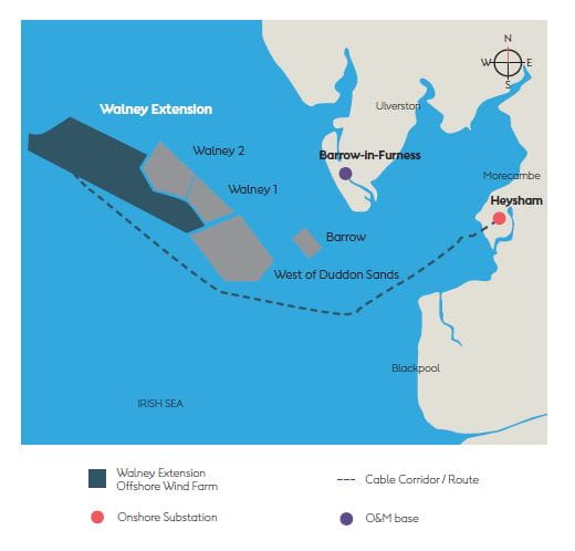 Walney Extension map
