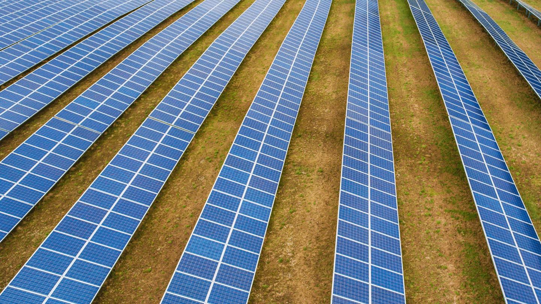 Solar panels at a Solar center
