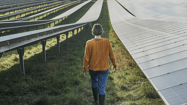 Landowner walking through Solar Center