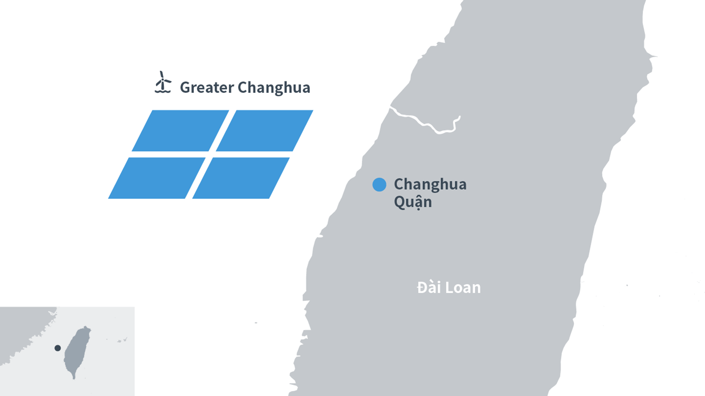 Map of offshore wind farm Greater Changhua